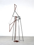 eva rothschild, bambi, 2006, lacquered wood, leather, 180x70x59 cm