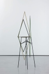 sweet valley, 2011, painted oak, steel stand, 243x60x60 cm